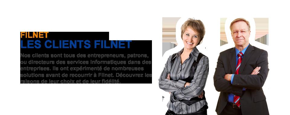 Les clients Filnet sont des chefs d'entreprises